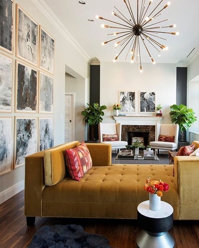 Gold Velvet Daybed Home Interior Design Contemporary Home Decor Living Decor