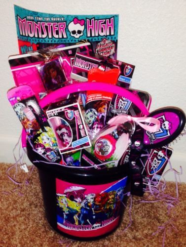Monster high easter basket pail loaded with monster high fun gifts monster high easter basket pail loaded with monster high fun gifts new negle Image collections