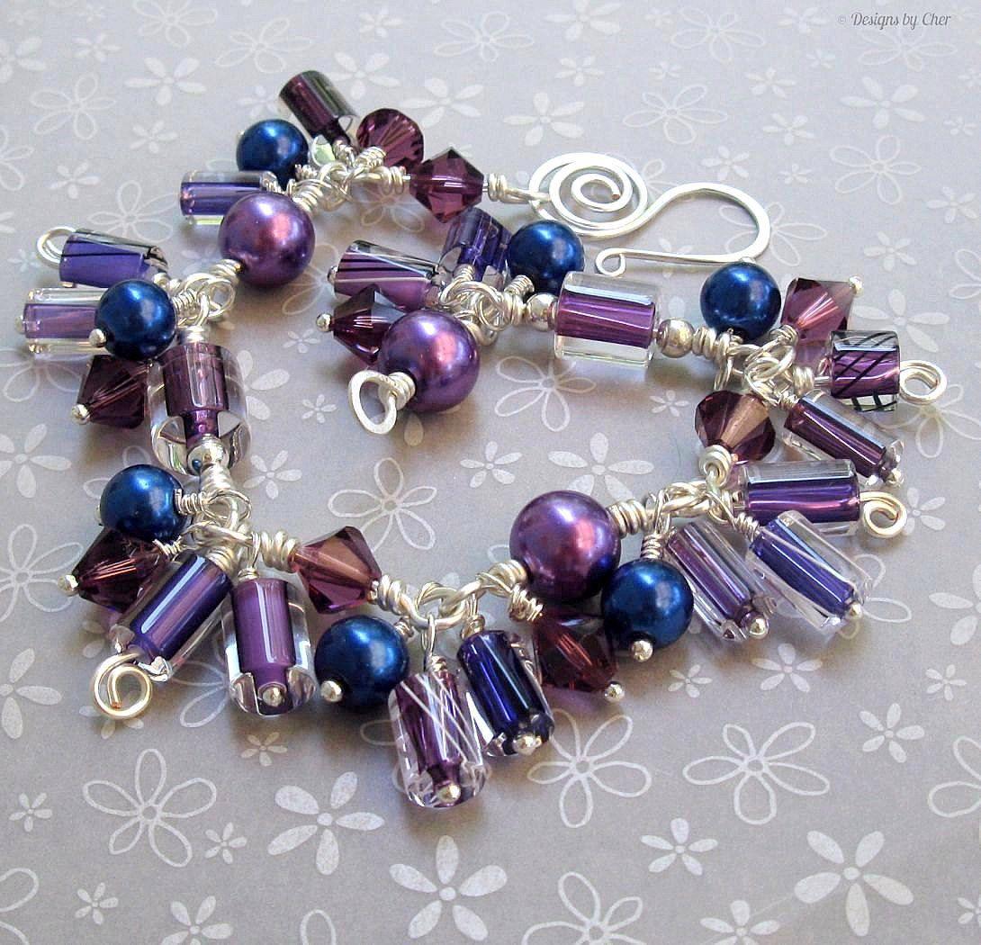 https://www.etsy.com/listing/75862298/wire-wrapped-charm-bracelet ...