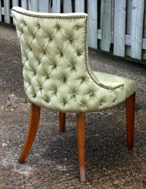 Gatsby Deep Buttoned Side Chair Reed Rackstraw Fine English