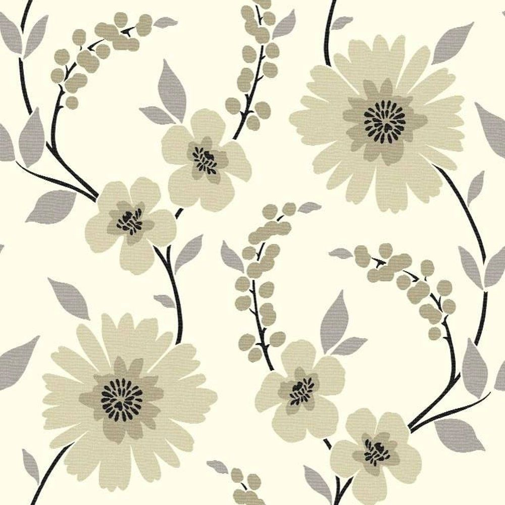 Image gallery for contemporary floral wallpaper purple for Purple kitchen wallpaper