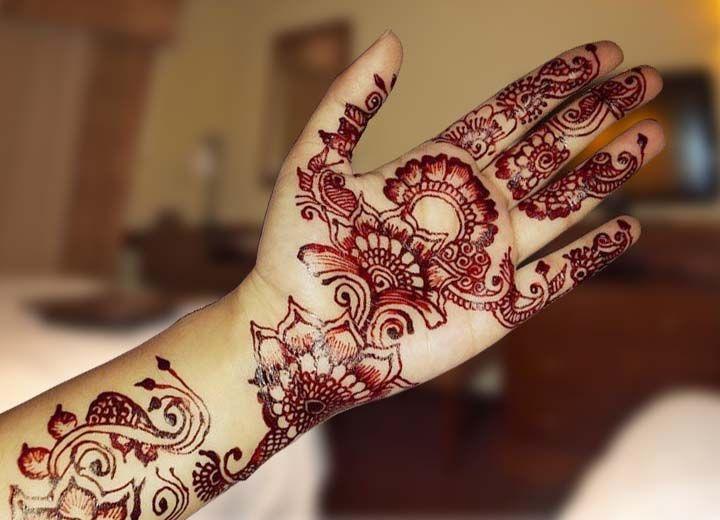 Front Hand Henna Mehndi Design : Front mehndi design nice bridal henna indian