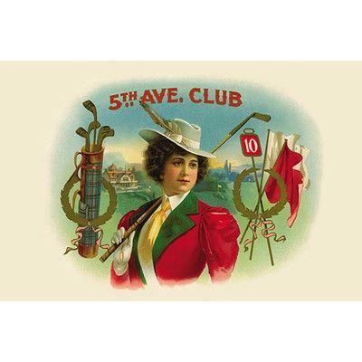 """Buyenlarge '5th Ave. Club' Vintage Advertisement Size: 24"""" H x 36"""" W x 1.5"""" D"""