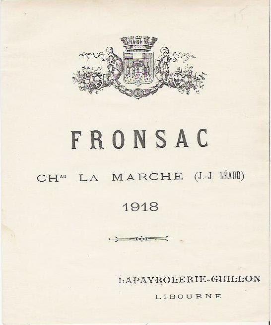 1918 Antique French Wine Bottle Label Fronsac Etsy Vintage Wine Label French Wine Labels French Wine Bottles