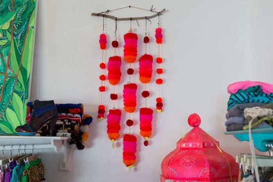 Oh Joy | What We Did in Mexico #diy #pompom #mobile