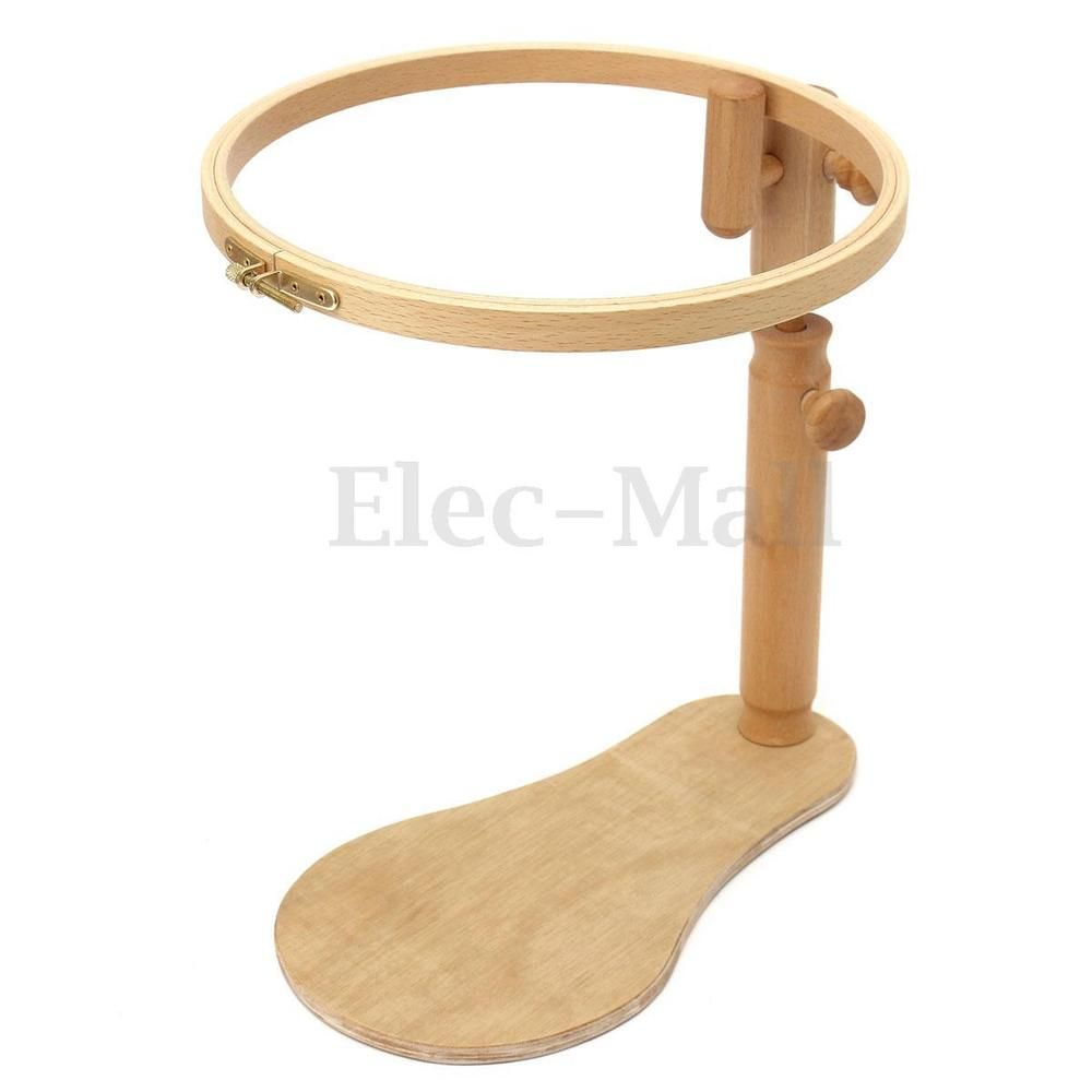 Adjustable Sit-on Beech Wooden Round Embroidery Lap Frame Cross ...
