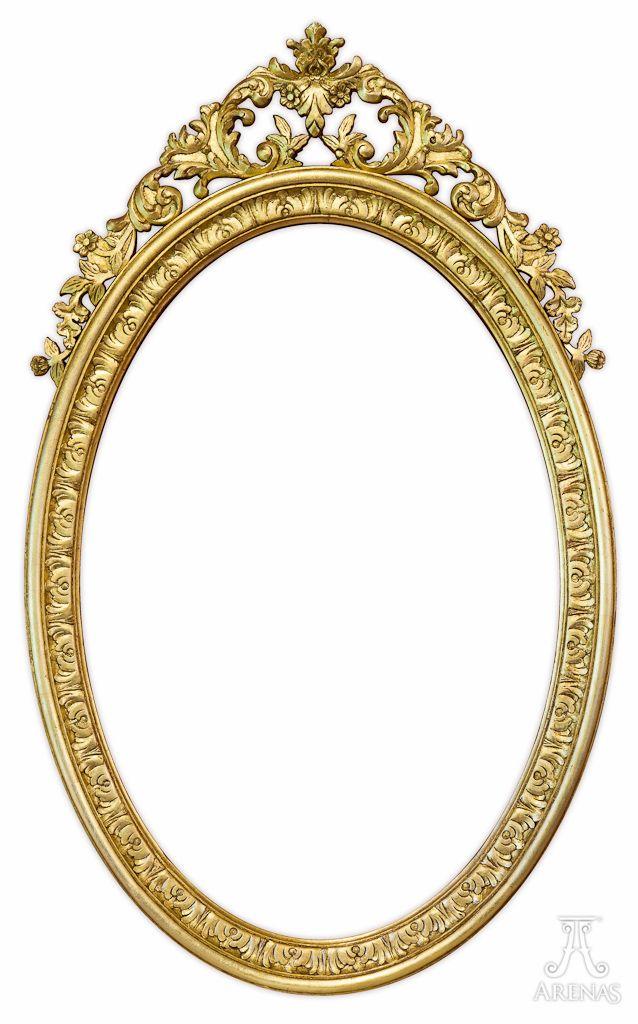 Marco ovalado para espejo. Diseño exclusivo de Ebanistería Arenas ...