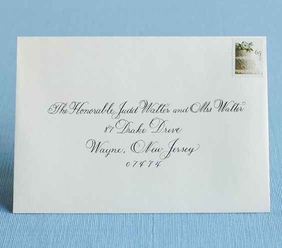 How To Address Wedding Invitations  Addressing Wedding Envelopes
