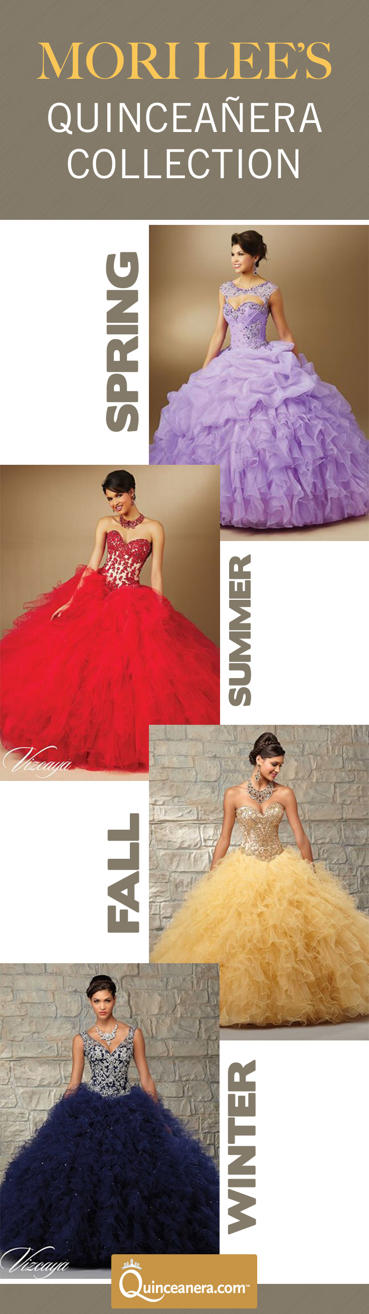 Which season is your quinceanera falling in? In case you didn't already know, Mori Lee's Quinceanera collection is Vizcaya. The following are the latest Mori Lee Quinceanera dresses that are even more impressive   Designer Dresses   Quinceanera Dresses  