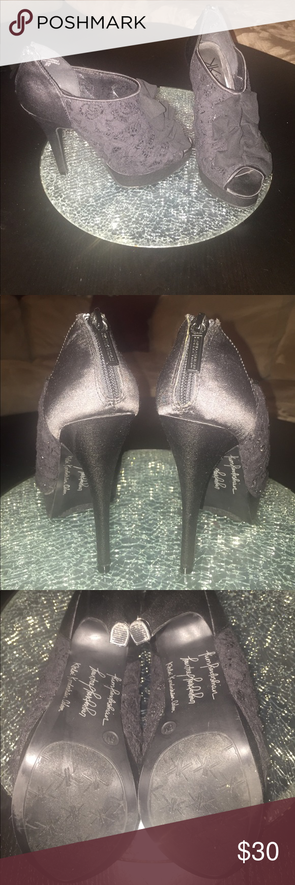 Kardashian Kollection heels Great condition Kardashian Kollection Shoes Heels