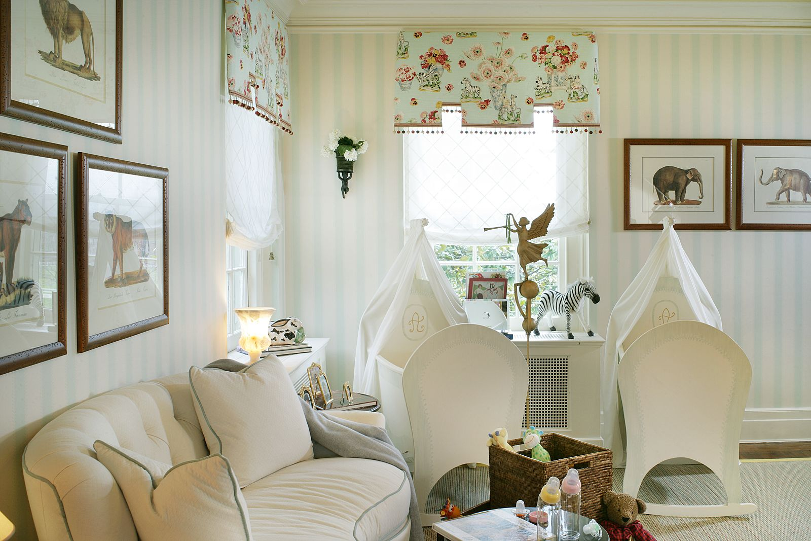 Pin By Fine Homes By Tina Hare On Twin Nursery Baby Room Design Baby Room Decor Twin Baby Rooms #nursery #in #living #room
