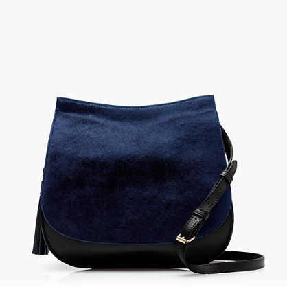 J.Crew - Leather calf hair saddlebag