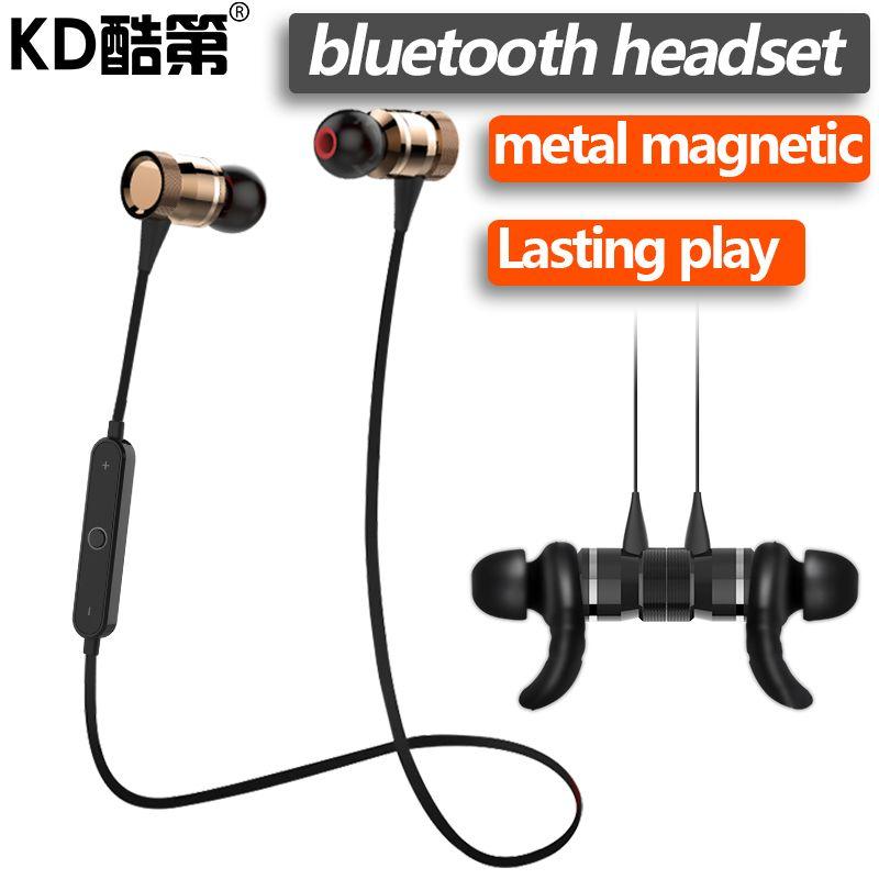 Kd Magnet Metal Sport Bluetooth Earphone V4 1 Wireless In Ear Microphone Earphone Runner Earphones Calls F Bluetooth Earphones Wireless Earphones Earphone