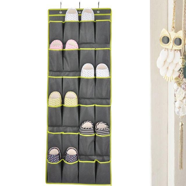 Over The Door Shoe Organizers 24 Pocket Hanging Shoe Organizer And Storage  Unit Behind Door Space