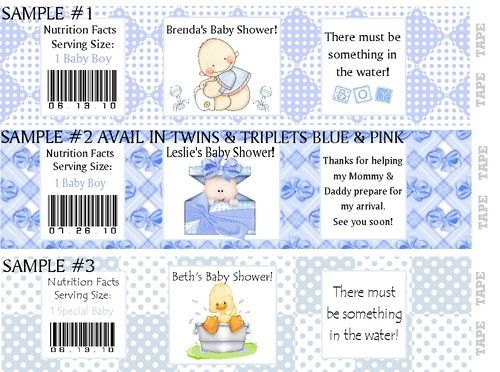 Waterproof Baby Shower Personalized Water Bottle Labels Party