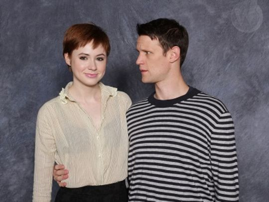 """Karen Gillan and Matt Smith. """"Who are you and what happened to Pond?"""""""