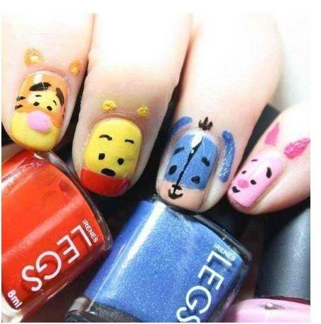 Disney - Winnie the Pooh nails!