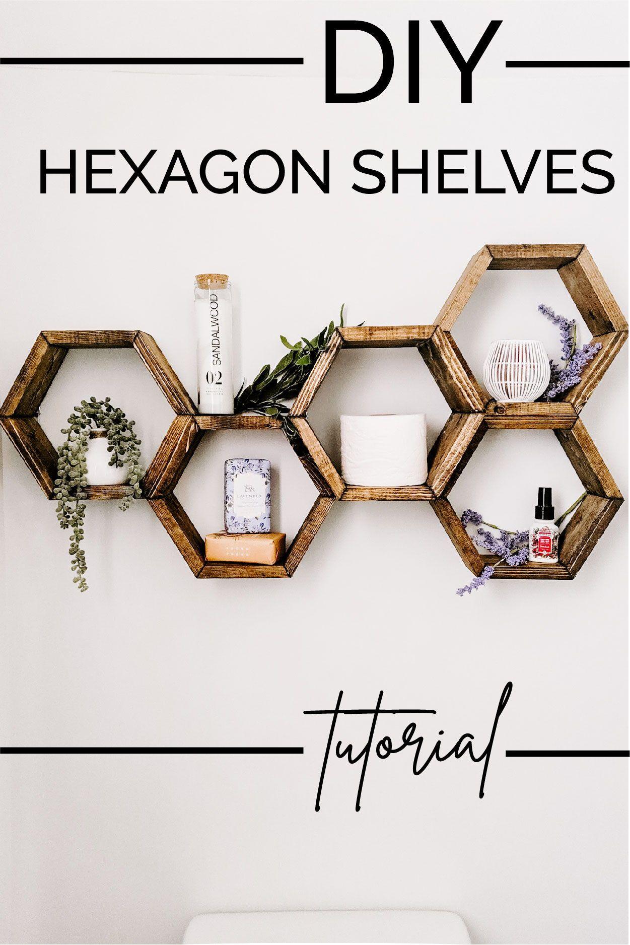 The Easiest DIY Hexagon Shelves
