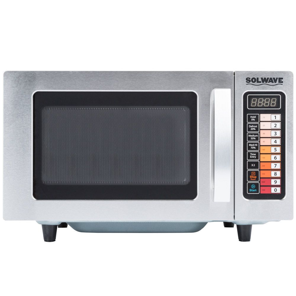 Solwave Stainless Steel Commercial Microwave with Push