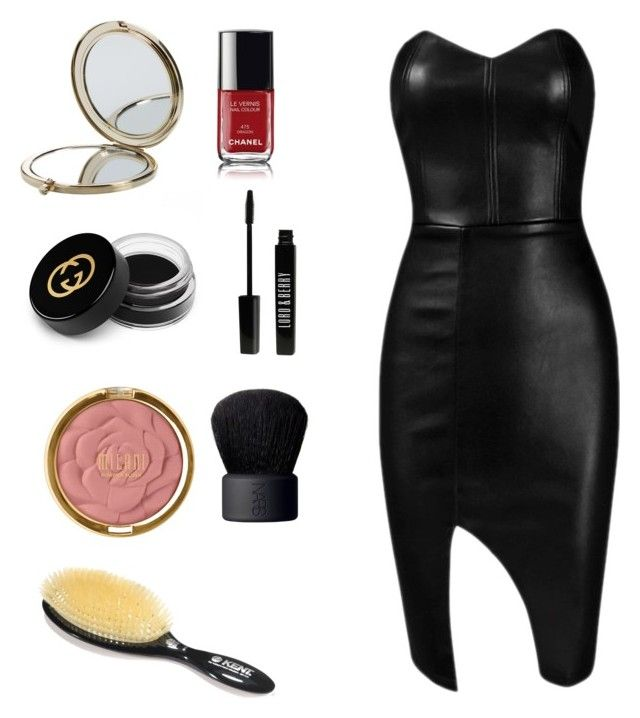 """Pelle"" by mara-covino on Polyvore featuring NARS Cosmetics, Chanel, Gucci, Henri Bendel, Milani, Lord & Berry e Posh Girl"
