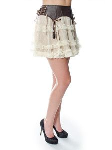 Hell Bunny Skirts - Spin Doctor Sally Steampunk Skirt / Petticoat - Emo Dress #emodresses