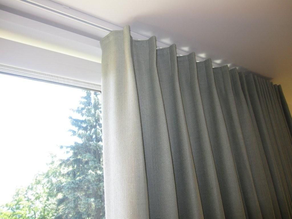 shade pretty drapery ceilings ceiling rod automated full track size motorized image system as with curtain