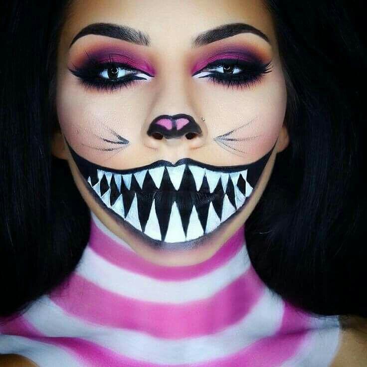 Pin by Alma Hdz on Halloween Pinterest Cheshire cat halloween - cat halloween makeup ideas