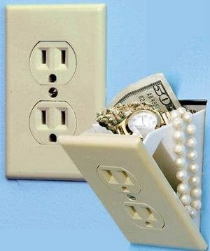 The perfect hideaway for small cash and valuables. A fake electrical outlet safe Micheal would approve