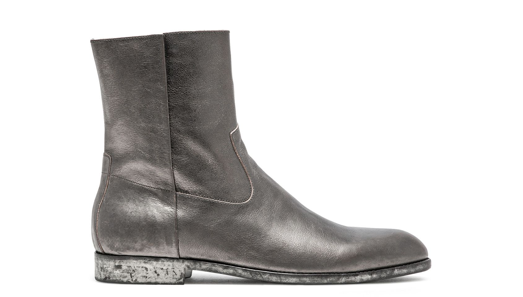 Buttero Floyd Ankle Boots In Graphite Leather Fall Shoes Boots Boots And Sneakers