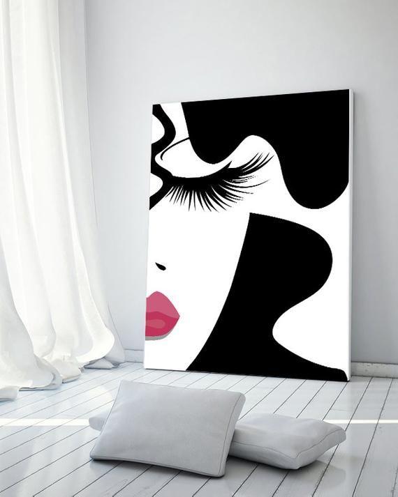 Impresión de maquillaje, moda, maquillaje, impresión de pestañas, impresión digital, impresión, impresión de vanidad, impresión de arte de maquillaje, impresión de belleza, decoración de maquillaje