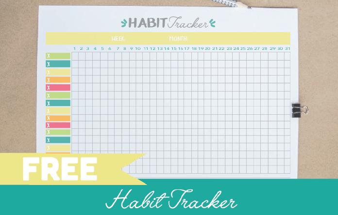 Free Printable Habit Tracker Pdf Bullet Journal Template
