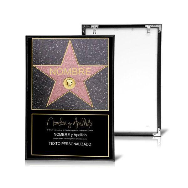 Estrella De La Fama Personalizada Estrellas Paseo De La Fama De Hollywood Personalizar