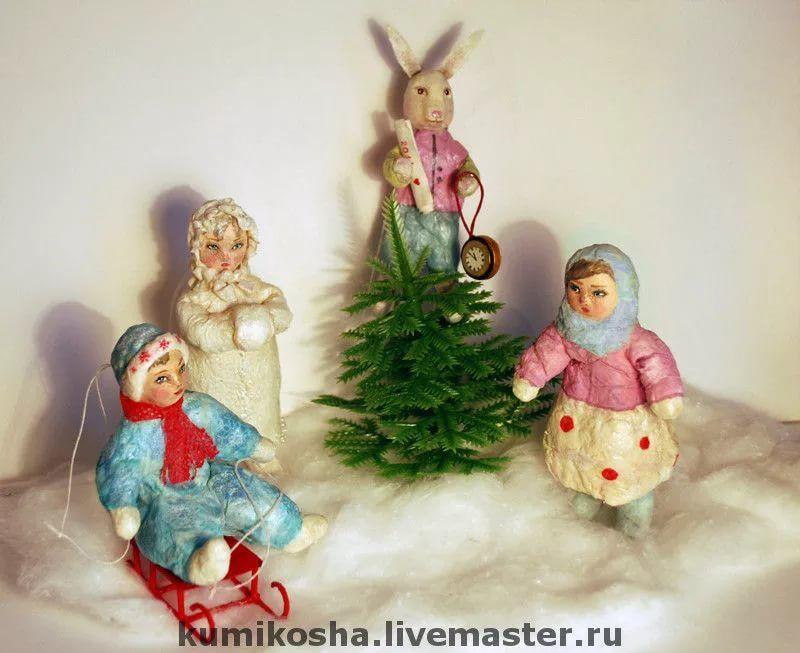 Новогодние игрушки из ваты своими руками фото 930