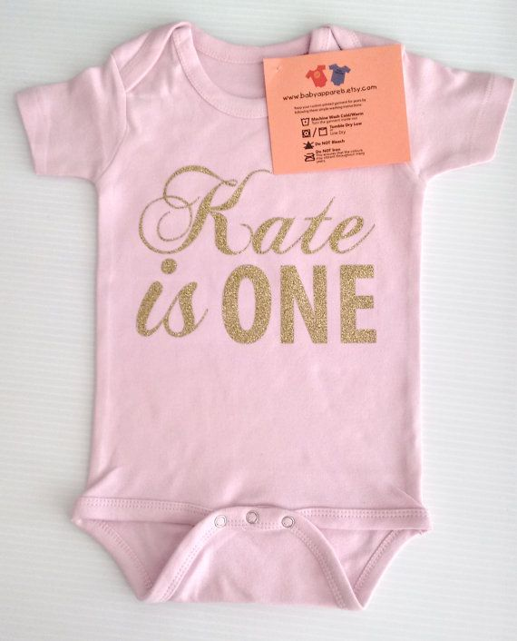 Customize Birthday Baby Clothes 1 Year Old Baby by BabyApparels