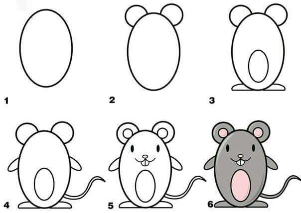 Como dibujar un raton  Dibujos  Pinterest  Drawings Doodles