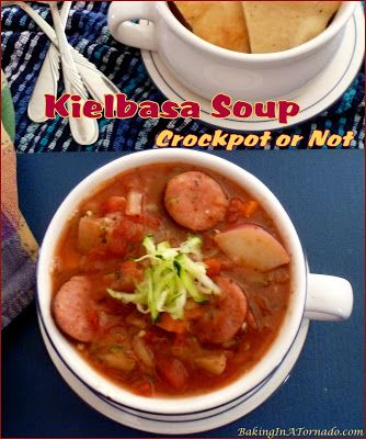 Kielbasa Soup, Crockpot or Not #coldweatherrecipes