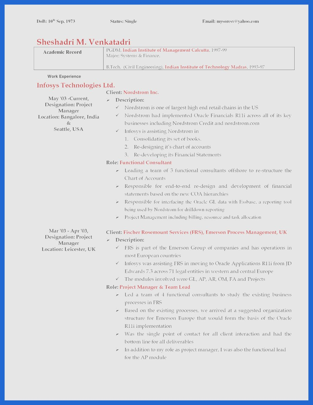 Professional Resume Cover Letter Samplee Page Professional ...