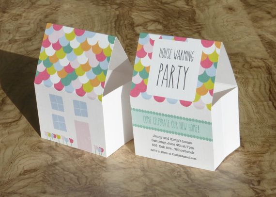 House warming invitation unique pop up invitation for Housewarming shower ideas