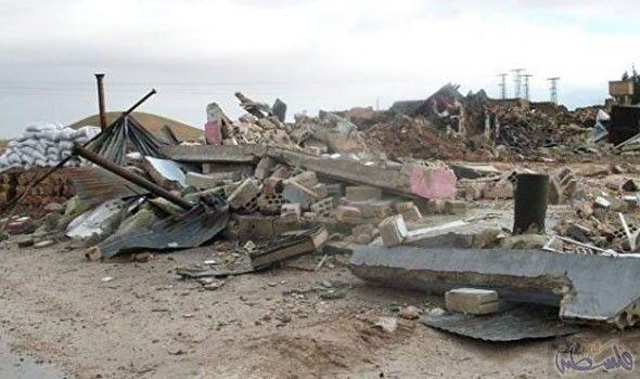 طائرات حربية روسية تغير على مناطق في قرية رسم العبد في ريف حماة