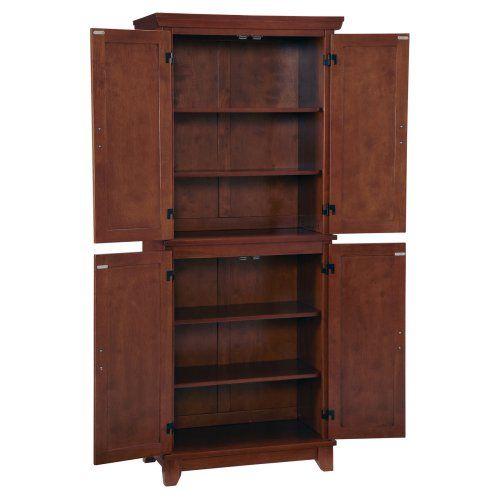 home styles arts & crafts kitchen pantry - cottage oak