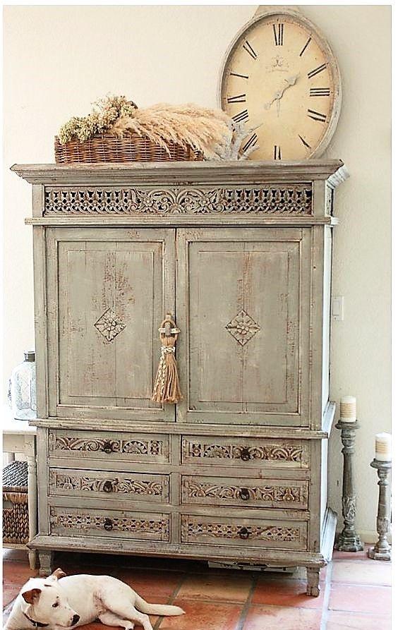 Este acabado se acent a en muebles con calados y tallas shabby chic pinterest decor - Shabby chic muebles ...