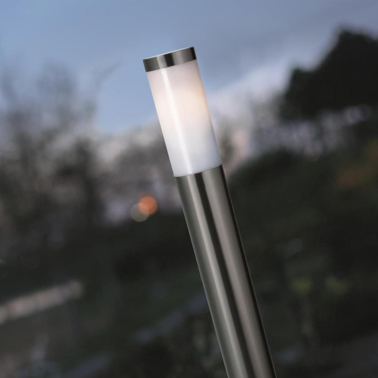SKAPETZE - Sydney / Pollerleuchte 110 cm mit Steckdose / Edelstahl ...