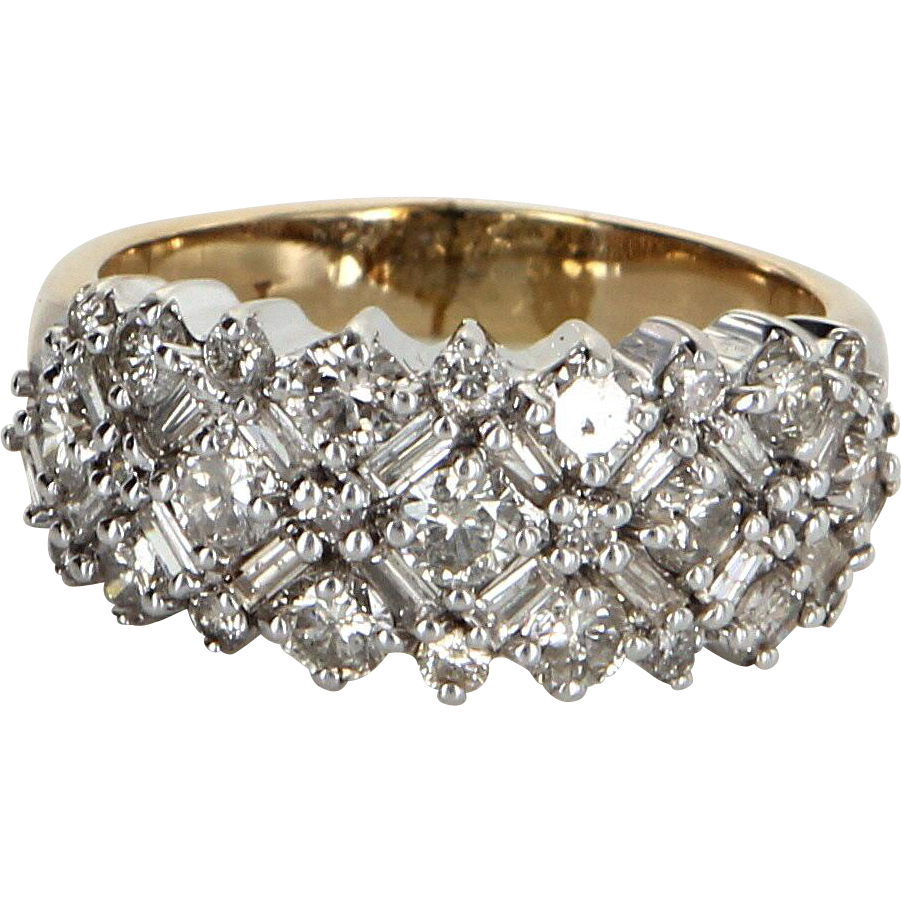 and m francis diamond antique fine bands collections estate jewelry ring gold platinum