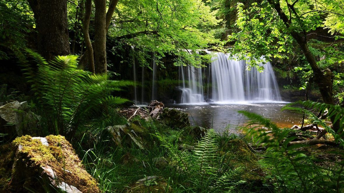 Waterfall Desktop Background Nature Hd Nature Wallpapers Waterfall Wallpaper