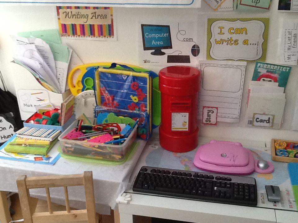 our little writing corner writing areawriting cornerwriting tablepreschool