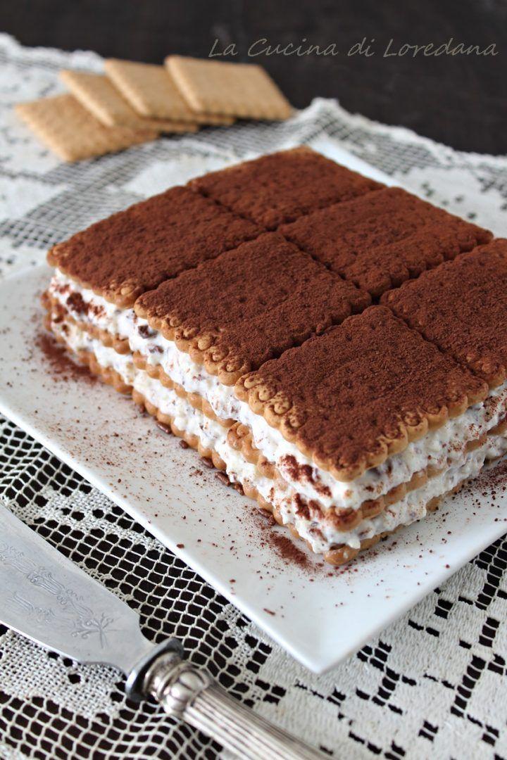 Mattonella di biscotti con crema di ricotta | Ricette ...