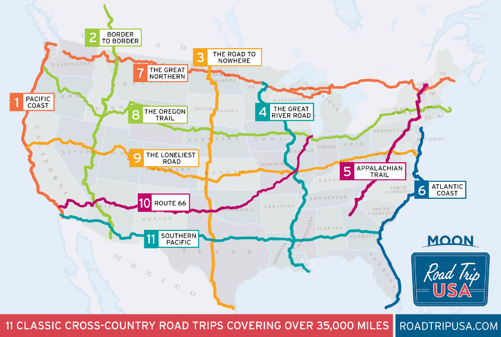 Us Route 2 Map Pin on road trip