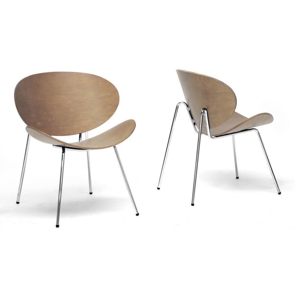 Best Reaves Walnut Effect Mid Century Modern Accent Chair Set 400 x 300