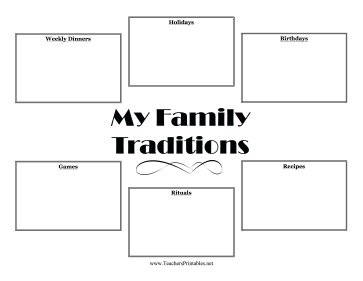 Students can discuss what makes their families unique or