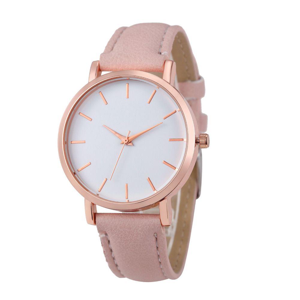 ac2fd103d12 Barato Novas Mulheres de Luxo de Couro Relógio de Genebra Vestido Relógios  homem Unsex Baratos Meninas relógio de Presente Relógios De Pulso Horas  Genebra ...